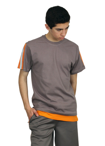REBEL MINDS Color Block Tee w/ Reflective Taping