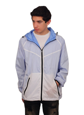 BLEECKER & MERCER Double Layer Hooded Windbreaker