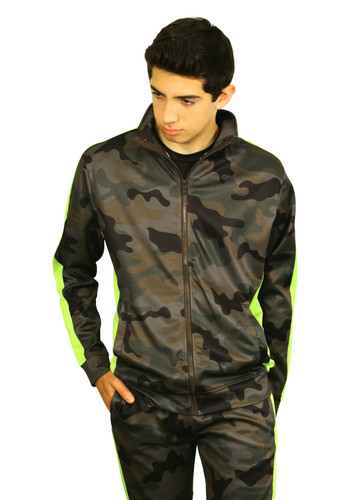 REBEL MINDS Camo Track Jacket