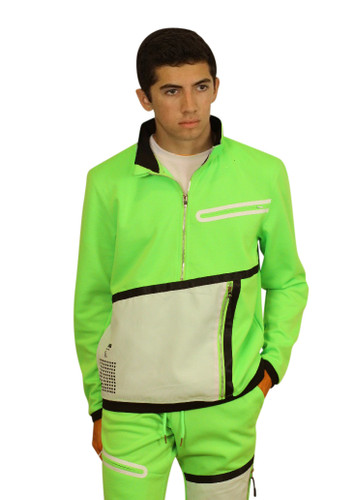 M. SOCIETY Tactical Track Pullover with Concealed Pocket