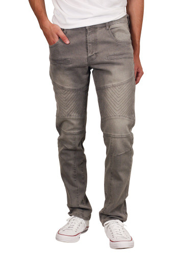 GENUINE DENIM Slim Straight Jeans with Stitching