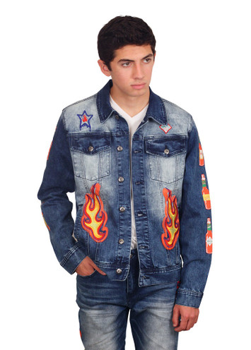 BORN FLY Franks Red Hot Denim Jacket