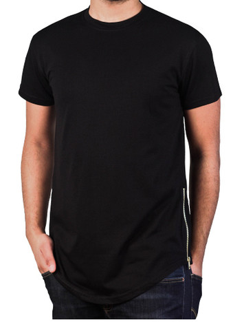BLEECKER & MERCER Elongated Tee with Side Zippers