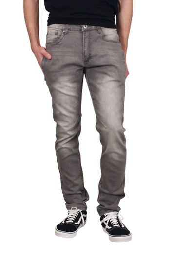 M. SOCIETY Slim Fit Jeans with Side Snap Pockets
