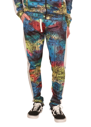 REBEL MINDS Tie Dye Paisley Track Pants