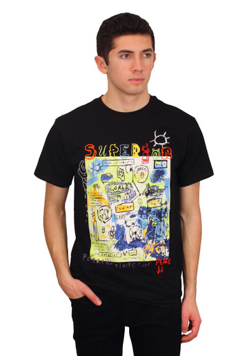 BLEECKER & MERCER Graffiti Art Printed Tee