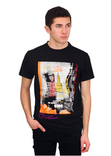 BLEECKER & MERCER Graffiti Art Embroidered Tee