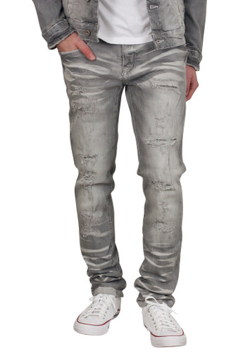 BLEECKER AND MERCER Slim Fit Rip and Tear Jeans