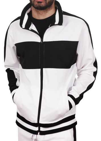 Bleecker & Mercer Men's Color Block Track Jacket