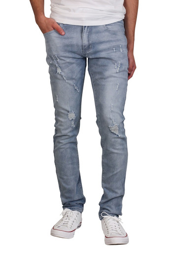 M. SOCIETY Rip and Tear Skinny Fit Jeans