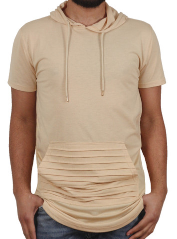 Bleecker & Mercer Elongated Hooded Tee with Side Zippers