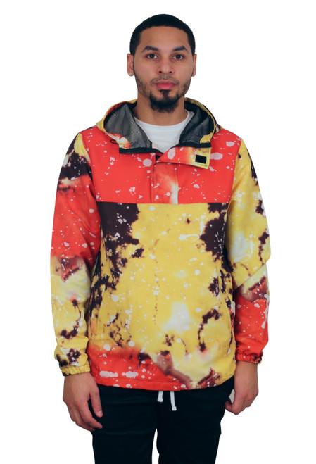 REBEL MINDS Tie-Dye Printed Windbreaker