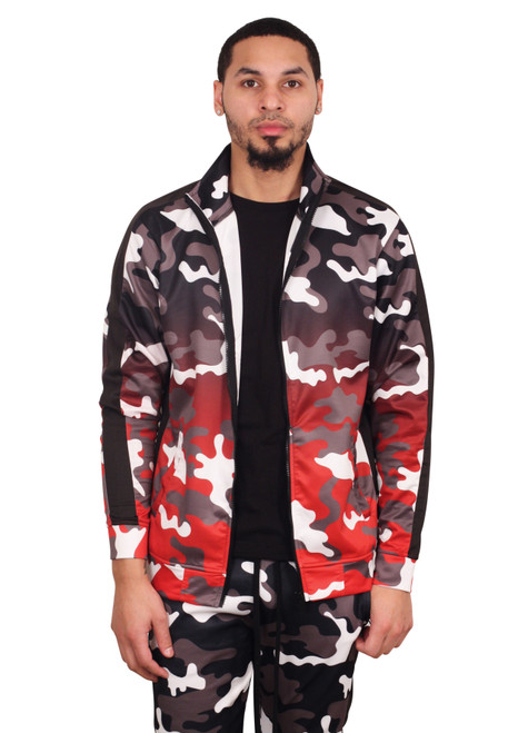 REBEL MINDS Dip Dye Camo Track Jacket