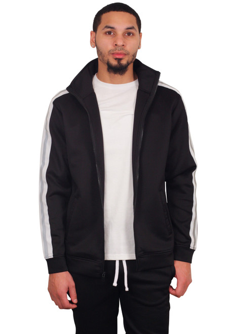 REBEL MINDS Track Jacket with Reflective Taping
