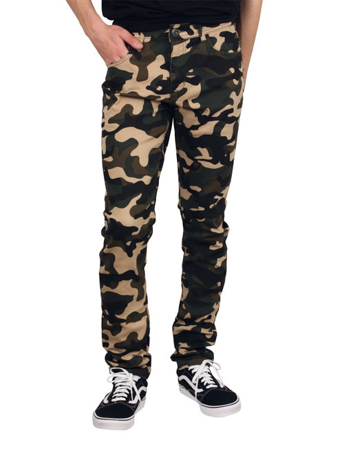 M. SOCIETY Skinny Fit Lightweight Camo Jeans