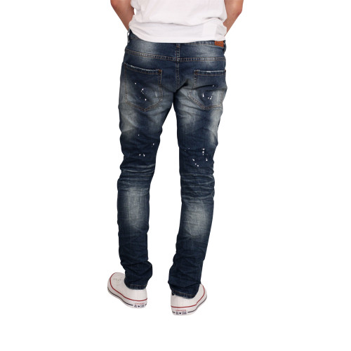 ROYAL SEVEN Skinny Fit Splatter Paint Jeans