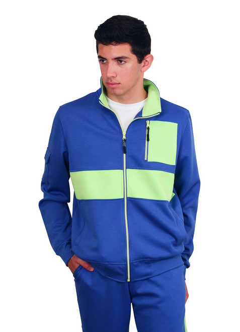 M. SOCIETY Tactical Color Block Track Jacket
