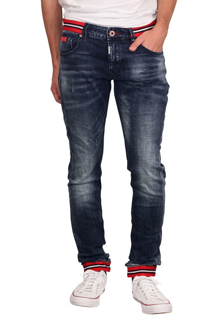 ROYAL SEVEN Skinny Fit Jeans with Contrast Taping
