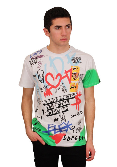 BLEECKER & MERCER Spray Art Graffiti Tee