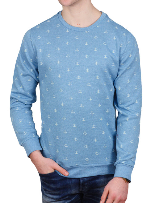 Alpha Beta French Terry Anchor Printed Crew