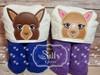 Both 4x4 & 5x7 Llama Peeker Set (Boy and Girl)