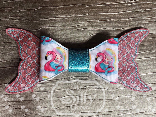 4x4 & 5x7 Hair Bow Loop Mermaid