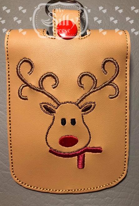 5x7 Sanitizer Case Reindeer