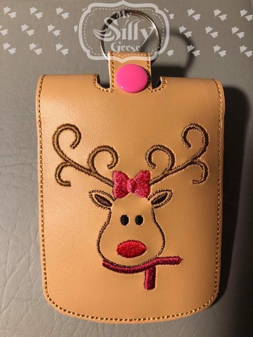 5x7 Sanitizer Case Reindeer Girl