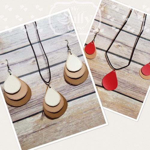 5x7 Droplets Jewelry Embroidery & SVG (Earrings and Necklace Set)