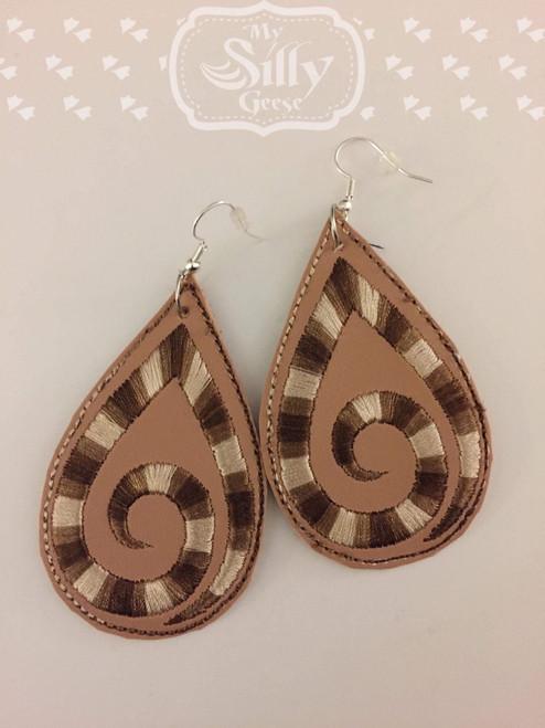 4x4 Satin Scroll Earrings