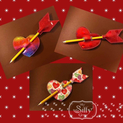 Pencil Topper Arrow with Heart