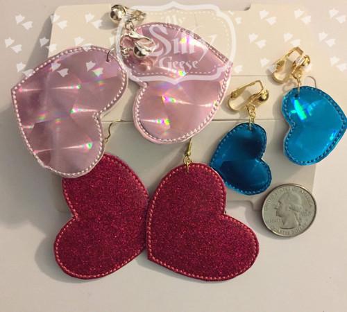 4x4 Heart Earrings