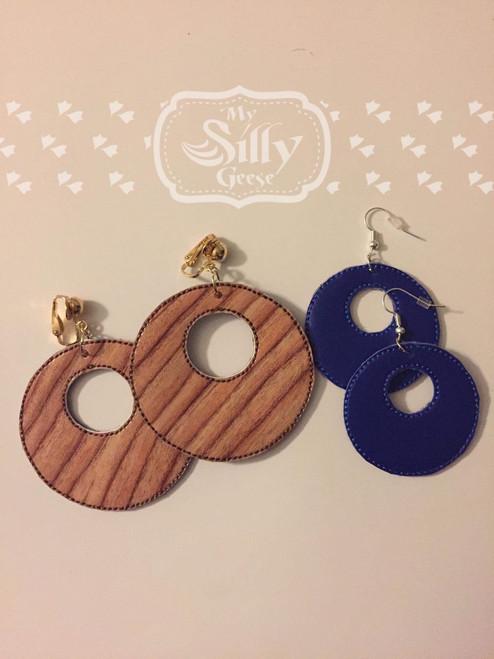4x4 Circle Cutout Earrings