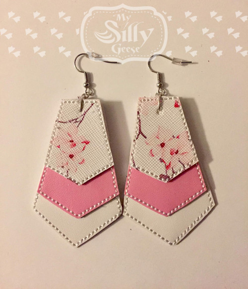 4x4 Geometric Stack Earrings Embroidery & SVG