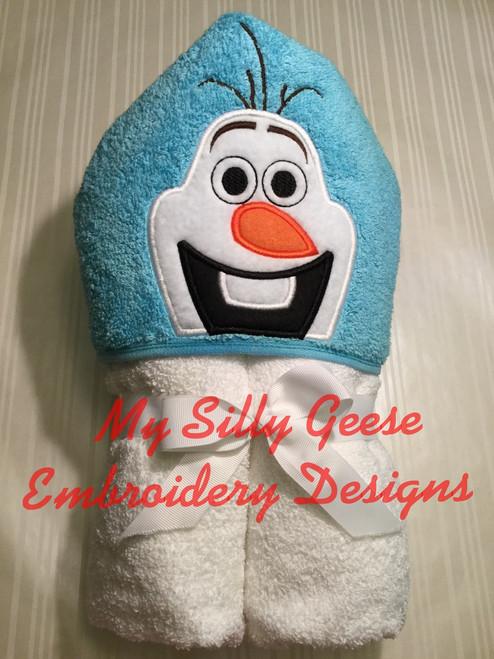 5x7 Silly Snowman Peeker