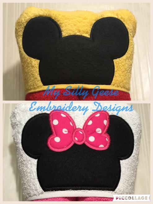 4x4 Mouse Head Set - Boy & Girl Mouse Head
