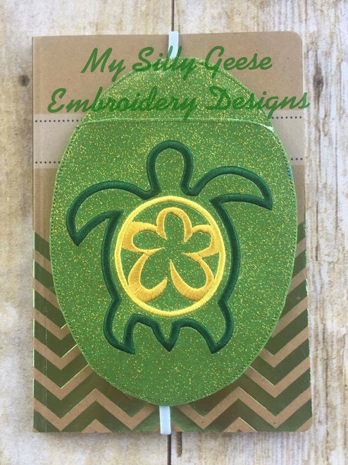 5x7 Sea Turtle Book Band Oval with Pocket