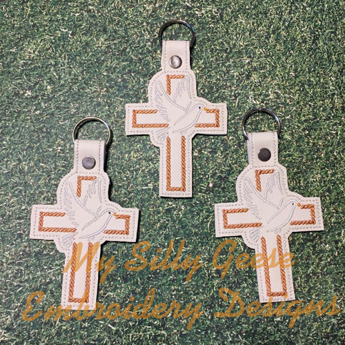 Key Chain Cross Dove