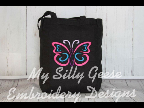 5x7 Butterfly Satin