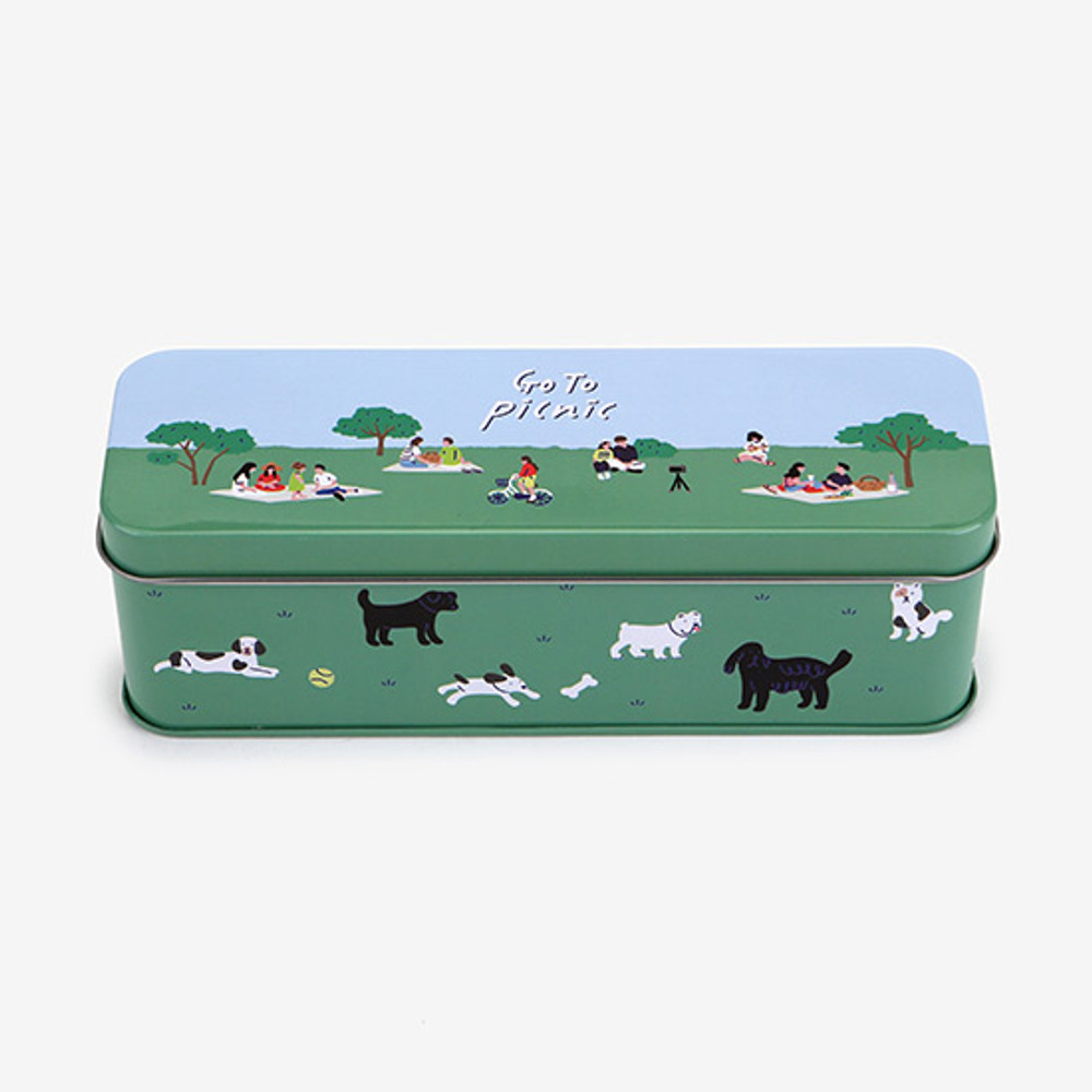 Comes with a tin case box - Dailylike Go to picnic 10 masking tapes set with tin case