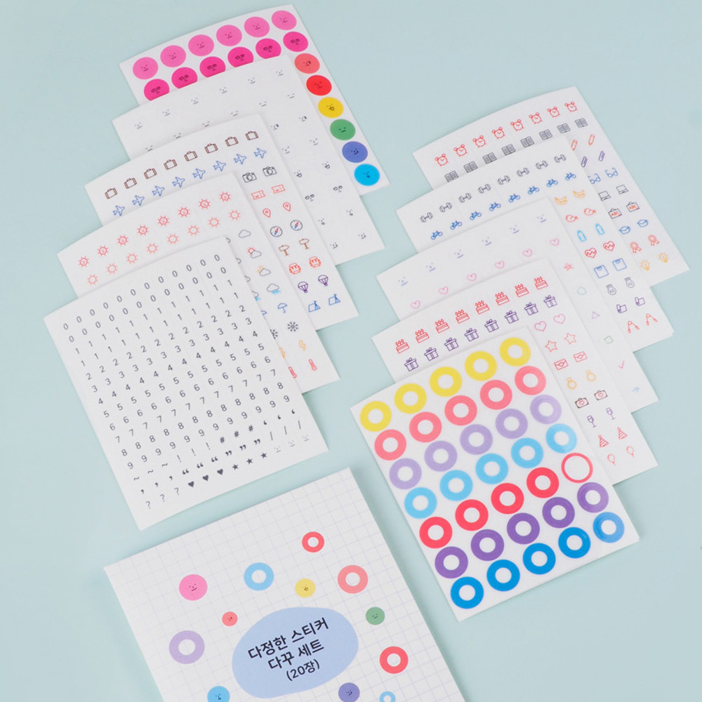 Rihoon Lovely decoration 20 sheets sticker set