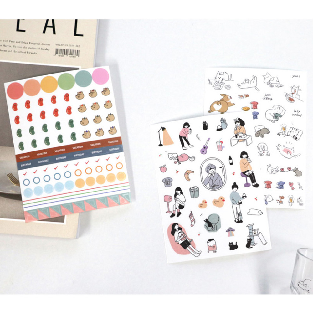 Usage example - ICONIC Diary deco sticker 9 sheets in one set ver10