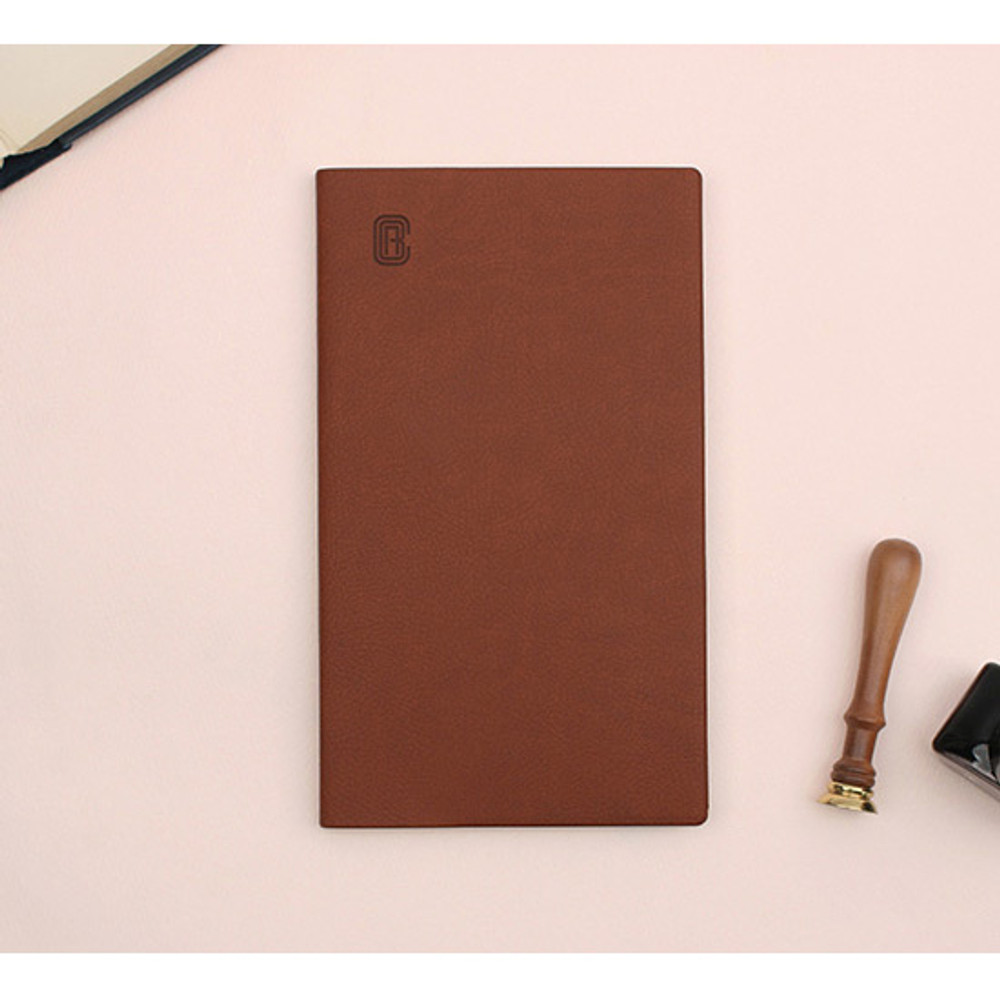 Brown - Bookfriends ABC small grid notebook