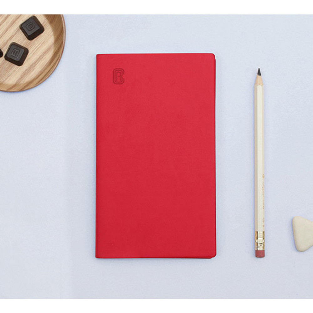 Red - Bookfriends ABC small grid notebook