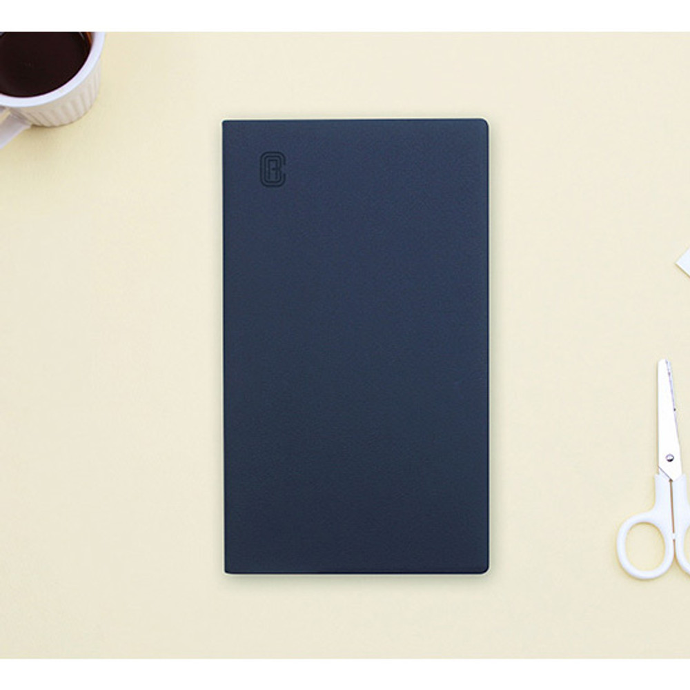 Navy - Bookfriends ABC large grid notebook