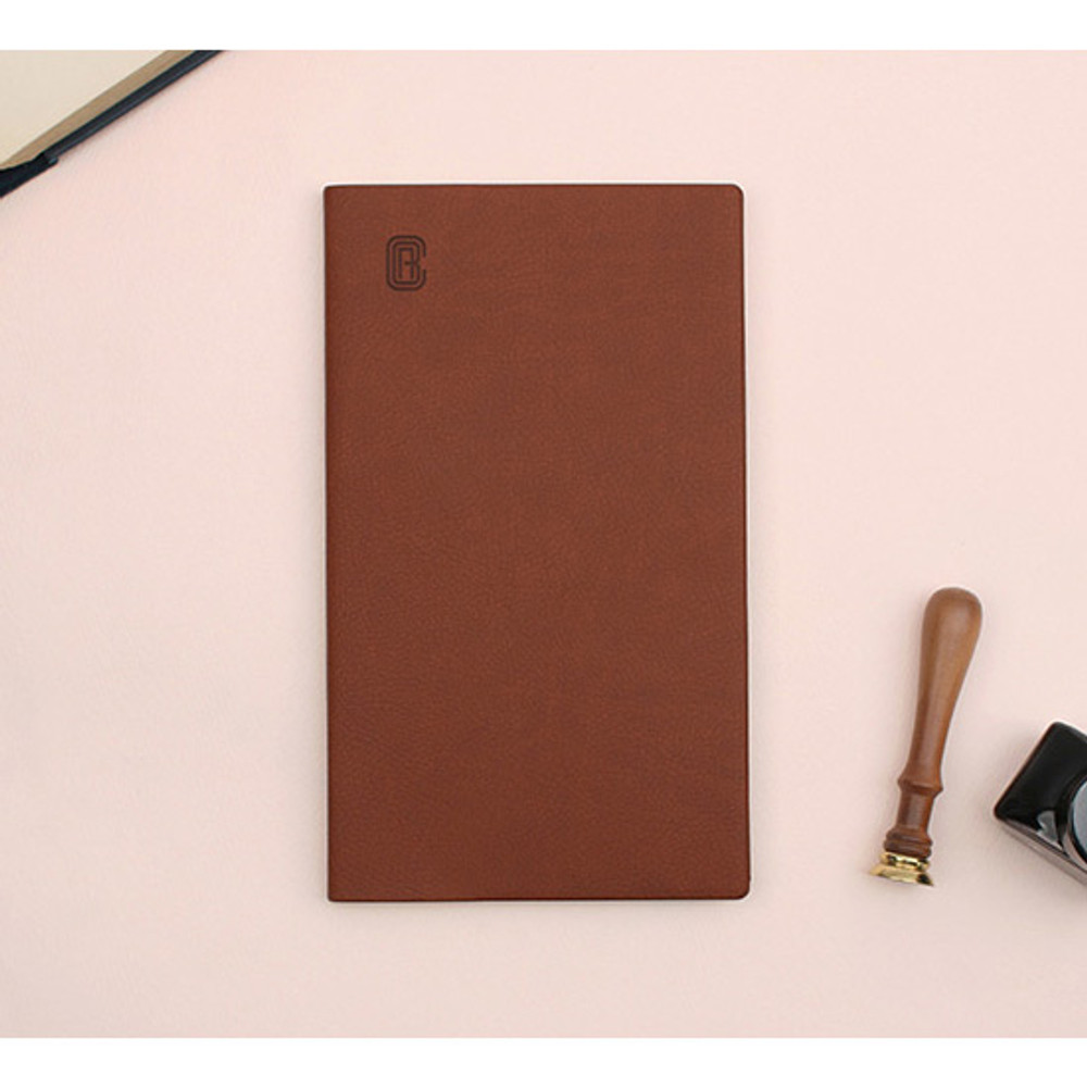 Brown - Bookfriends ABC large grid notebook