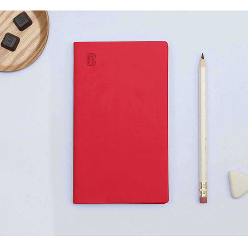 Red - Bookfriends ABC large grid notebook