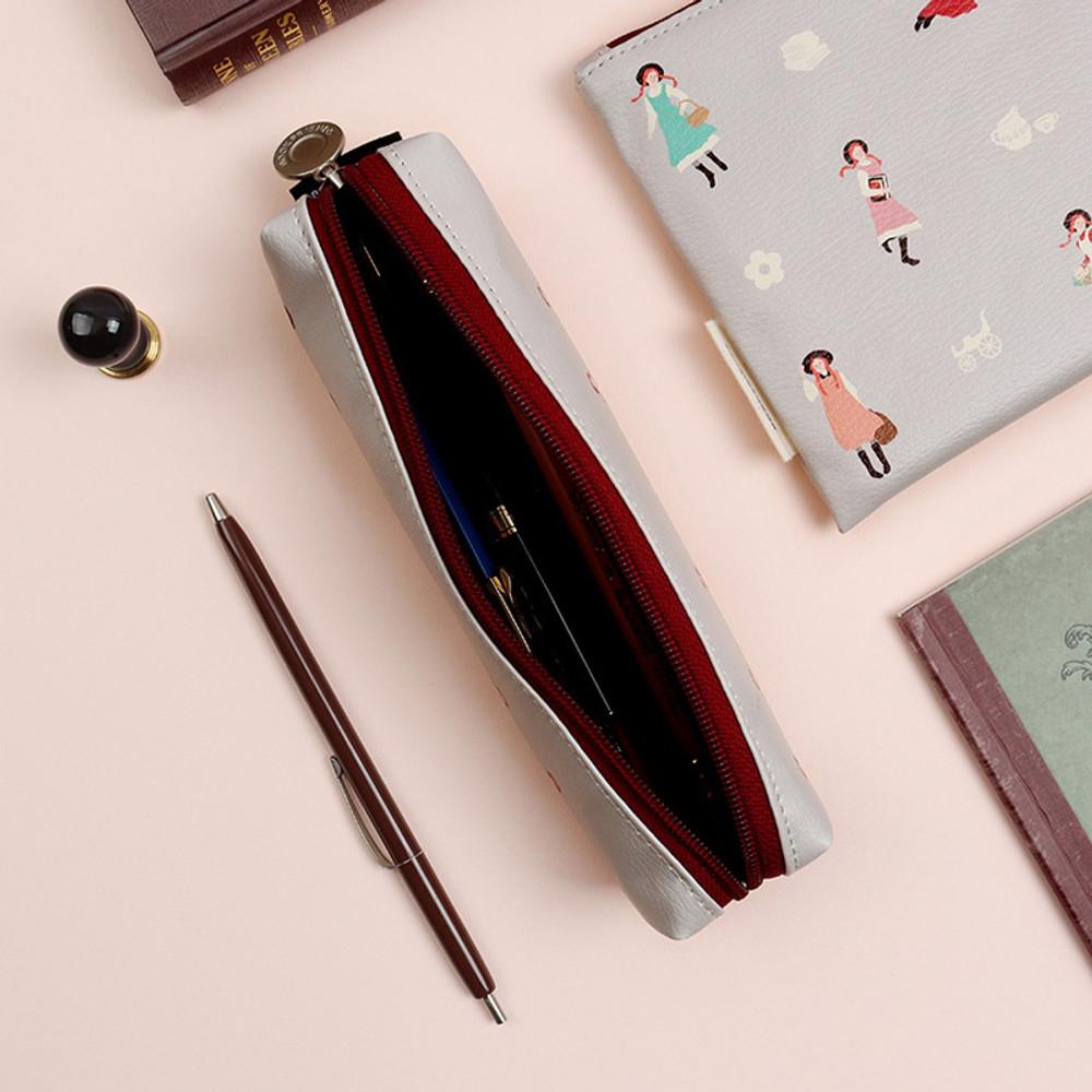 Warm Gray - Bookfriends Anne of green gables zipper pencil case pouch