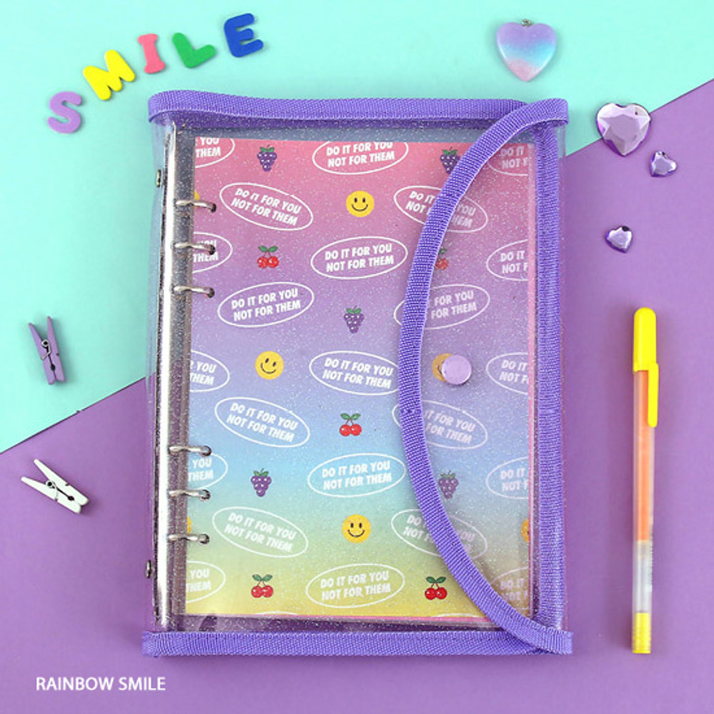 Rainbow smile - Second Mansion Retro A5 6-ring dateless weekly diary planner