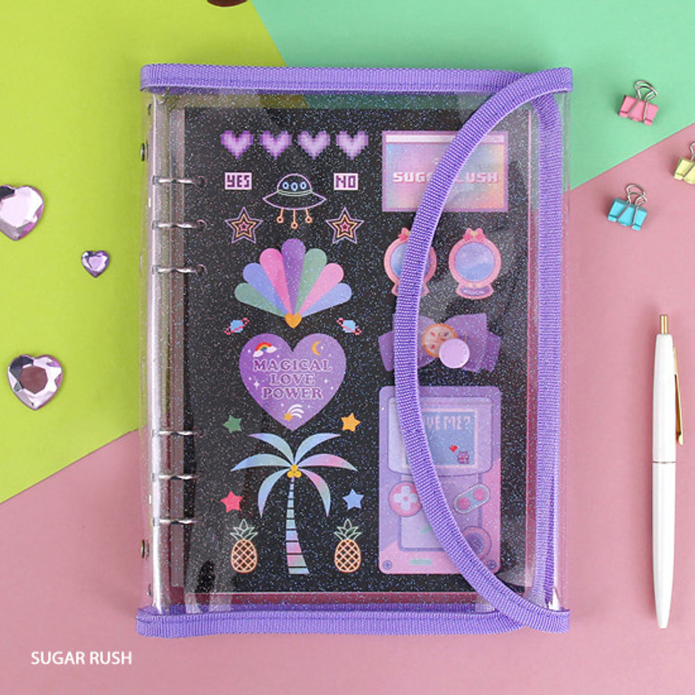 Sugar rush - Second Mansion Retro A5 6-ring dateless weekly diary planner